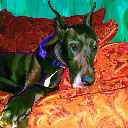great dane dog art
